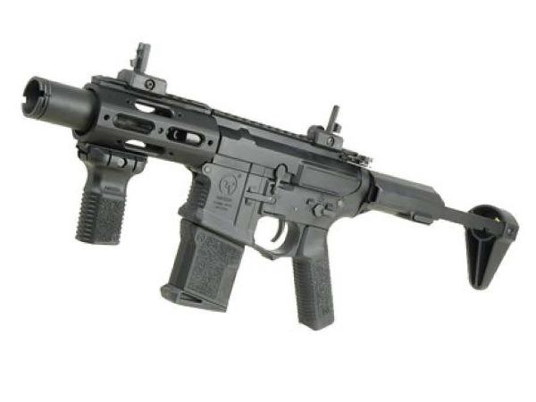(EFCS搭載機種/チャンバーカスタム対応)ARES 海外製電動ガン本体 Amoeba M4 CQC ライフル BK(AR-058) エアガン 18歳以上 サバゲー 銃