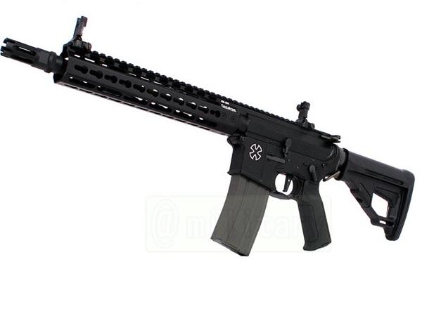 (EFCS搭載機種/チャンバーカスタム対応)ARES 海外製電動ガン本体 AMOEBA PRO M4-KM アサルトライフル 10in BK(AR-M4-KM10) エアガン 18歳以上 サバゲー 銃
