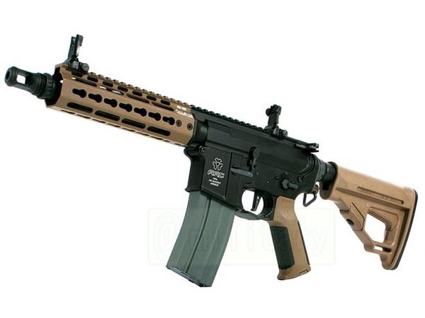 (EFCS搭載機種/チャンバーカスタム対応)ARES 海外製電動ガン本体 AMOEBA PRO M4-KM アサルトライフル 7in DE(AR-M4-KM7) エアガン 18歳以上 サバゲー 銃