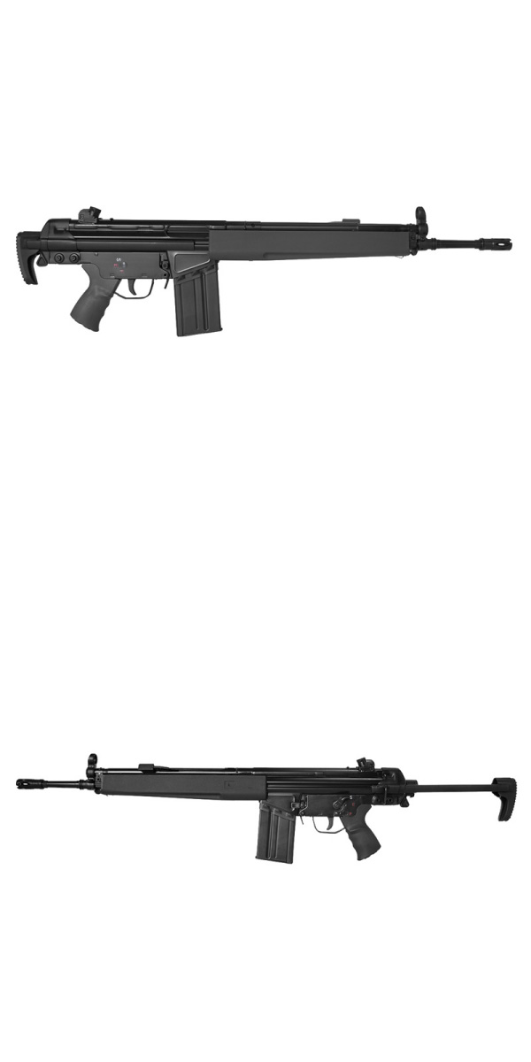 LCT 海外製電動ガン本体 LC-3 A4 W BK (lct-3a4-w-bk) JP Ver. G3A4 エアガン 18歳以上 サバゲー 銃