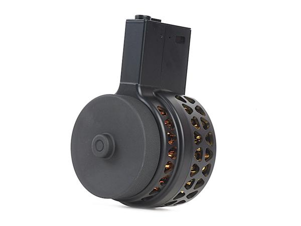 IRON AIRSOFT X15 1000連 電動ドラムマガジン M16/M4用 (1412a-1)