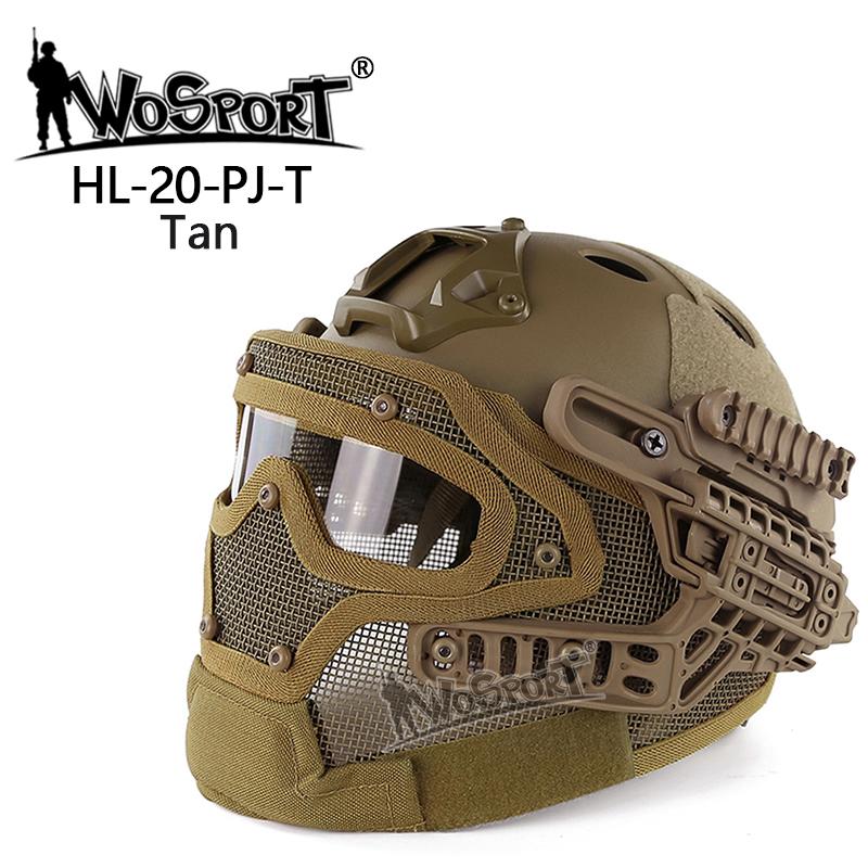 WoSporT 装備品 タクティカルヘルメット メッシュマスク TAN