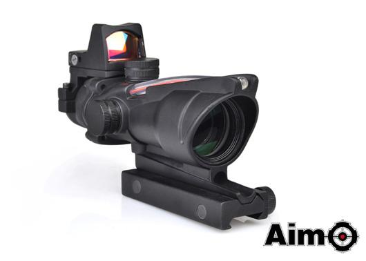 ELEMENT Aim-O 光学機器 スコープ ACOGタイプ 4倍固定倍率 +RMRドットサイトセット BK (ao1003) ダットサイト