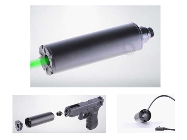 ACETECH LIGHTER ミニトレーサーユニット 14mmCCW(逆ネジ)サイレンサー夜戦曳光弾ハンドガン