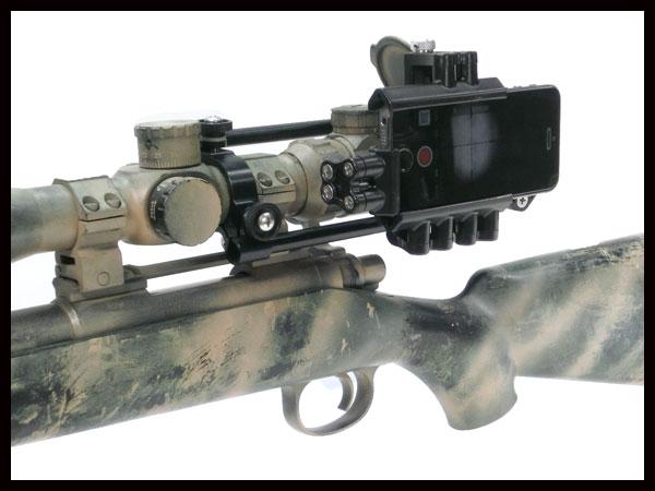 Side Shot phone Mount スコープオプション サイドショット スマホマウント POVビューをFPS風に撮影 スコープ径30mm 照準器 ガンカメラ