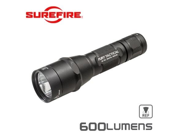 実物・正規代理店 SUREFIRE (シュアファイア) 光学機器 フラッシュライト P2X Fury Tactical Single-Output LED 600ルーメン キャンプ アウトドア
