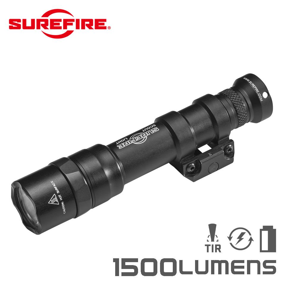 【実物・正規代理店】SUREFIRE (シュアファイア):光学機器 フラッシュライト M600DF Dual Fuel LED Scout Light 1500ルーメン (M600DF-BK) タクティカルライト