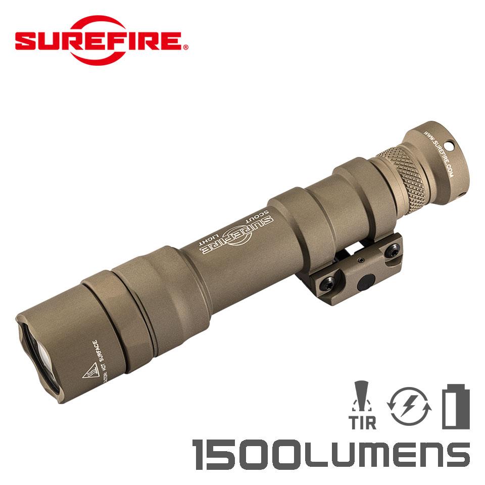 【実物・正規代理店】SUREFIRE (シュアファイア):光学機器 フラッシュライト M600DF Dual Fuel LED Scout Light 1500ルーメン TAN (M600DF-TN) タクティカルライト