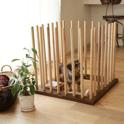 犬 ケージ Replus Bow System BOW600×4 【木製サークル】【サークル サ-クル】