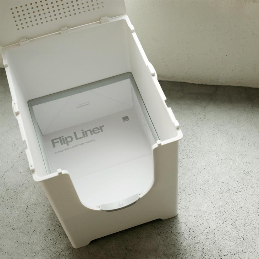纸衬板 6 pc 设置的猫翻转砂盒与专用 Modkat 垃圾框时尚猫砂提出了一个时尚的纽约设计师