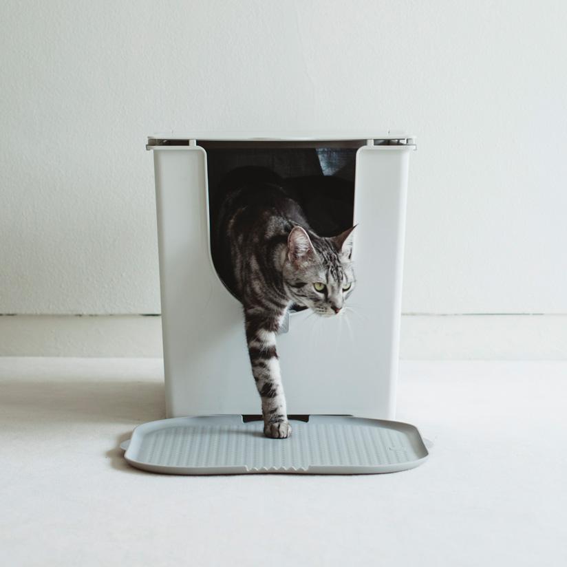 ネコ トイレ 上等 マットNY発のModkoが提案する お洒落な猫用トイレ マットCatch litter mat キャッチリターマット おしゃれ 猫 評価 マット Modkat オプションパーツニューヨーク在住デザイナーが提案するお洒落な猫用トイレ