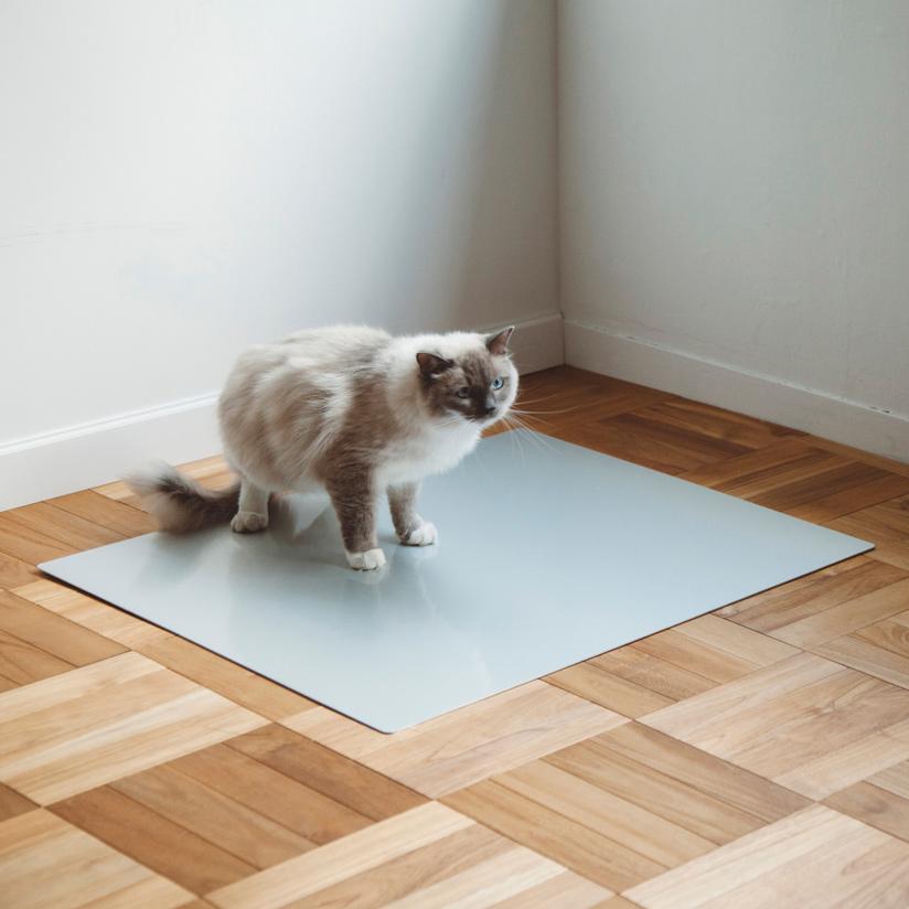 シンプル クール ベッド シルバー Lサイズ 猫用