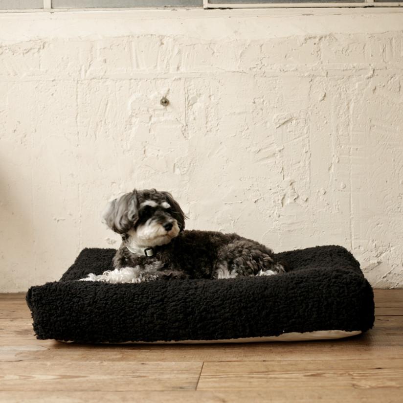 シンプル シープボア フリース ベッド M サイズ 犬用