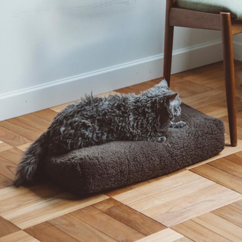 シンプル Mサイズ シープ ベッド ボア 猫用 フリース