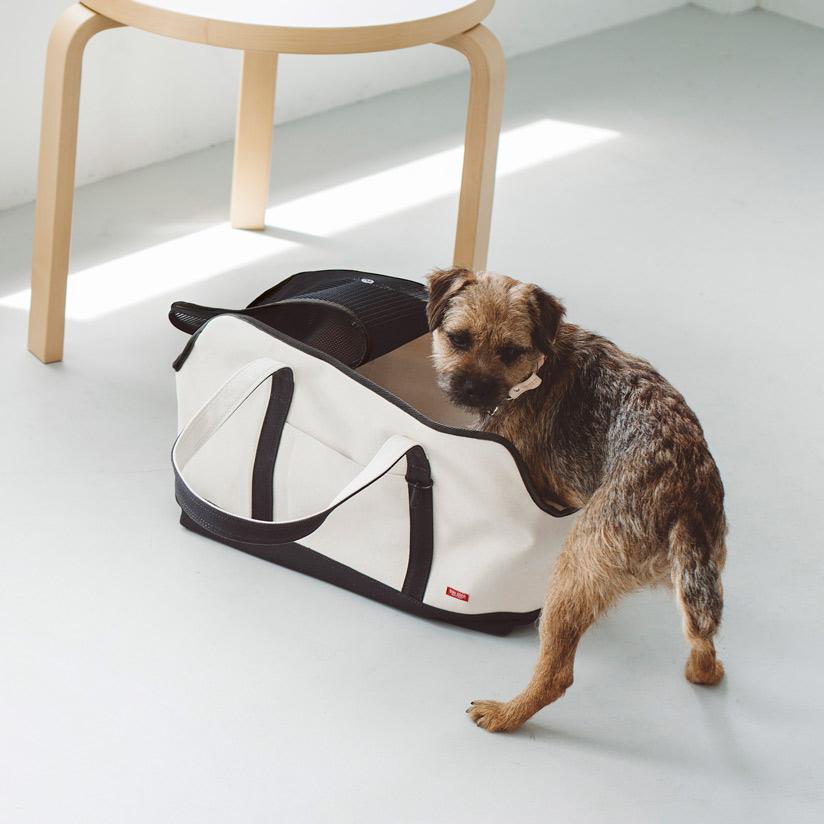 【犬 キャリー】スクエア トート ハンプ ツートン L サイズペット用品 愛犬用 ブラック カーキ 小型犬用 お出かけバッグ キャリーバッグ
