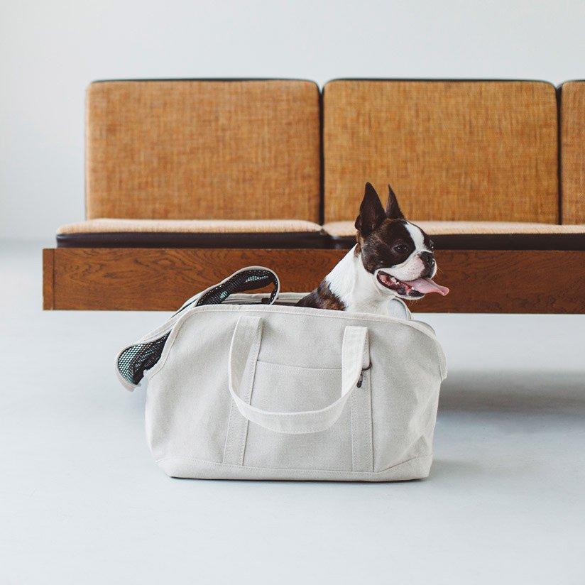 【犬 キャリー】スクエア トート リネン ソリッド M サイズ犬 いぬ ドッグ 犬用 犬用バッグ キャリー バッグ キャリーバッグ かばん 鞄 トート クレート おしゃれ シンプル 日本製 日本 病院 通院 リネン 電車 メッシュ 洗濯