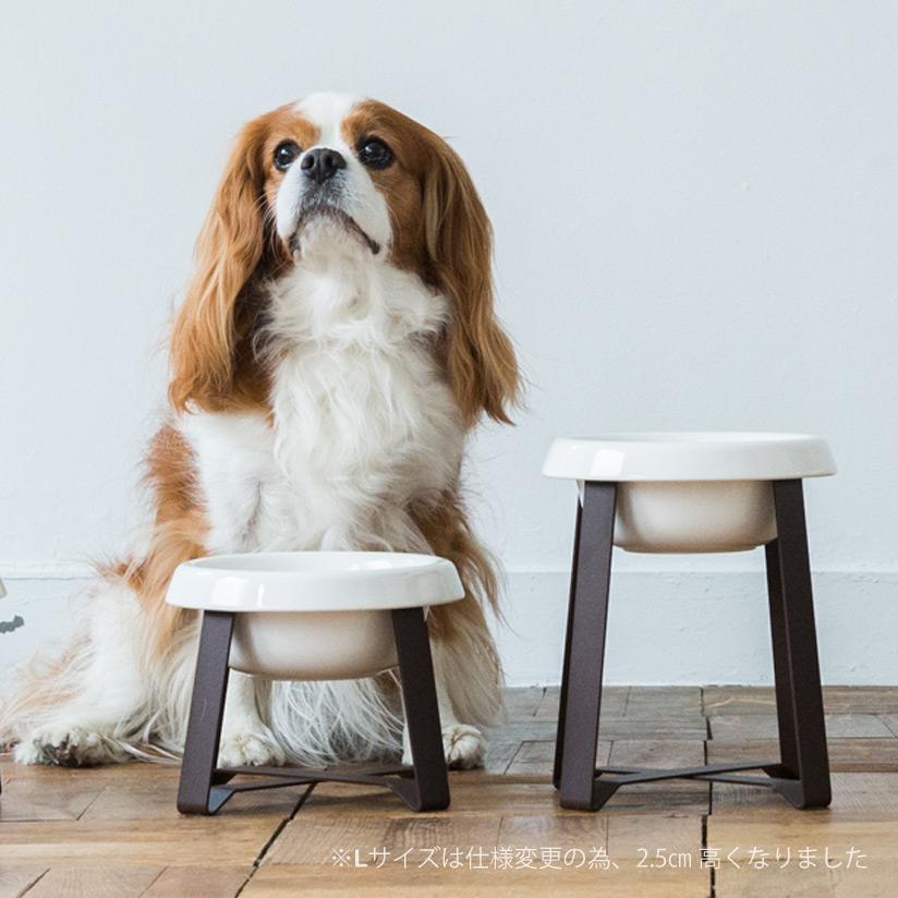 即納送料無料! 犬の水のみ 水入れ 水入れ容器 水用 お膳をモチーフにしたボウルとスタンド pecolo Food 陶器 年中無休 L 犬 フードボウル Stand フードボウルスタンド