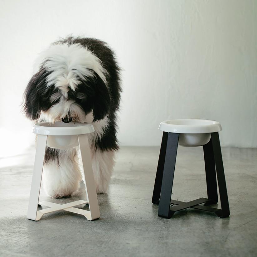 pecolo Food Stand LL(Tall) 陶器 フードボウルスタンド 犬 フードボウル