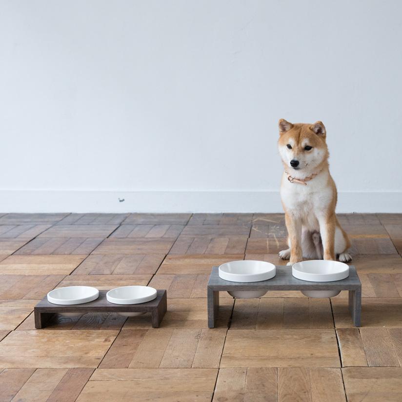 MESHIDAI GOHAN SS ダブル REPLUSリプラス メシダイ ゴハン 犬 ドッグ フードボウル foodbowl dog おしゃれ 陶器 木製