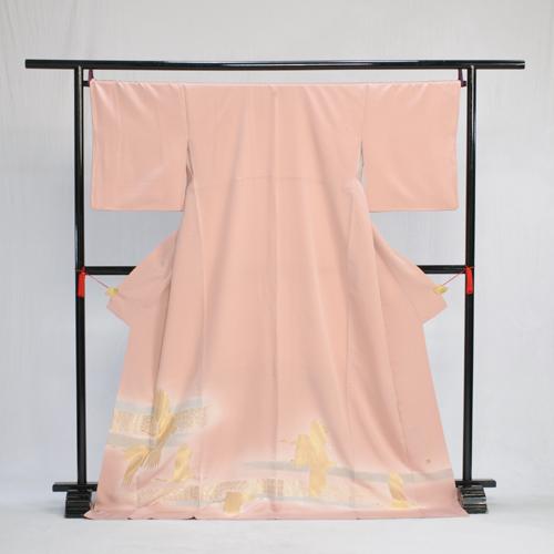 色留め袖 レンタル 色留袖 Lサイズ 大きいサイズ トールサイズ 高級正絹 着物レンタル 結婚式 親族 列席者 貸衣装 フルフル フォトブック付 お呼ばれ