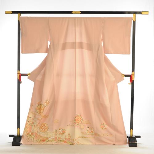 色留め袖 レンタル 色留袖 高級正絹 Lサイズ 大きいサイズ 着物レンタル 結婚式 親族 列席者 貸衣装 フルフル お呼ばれ 叙勲 広幅