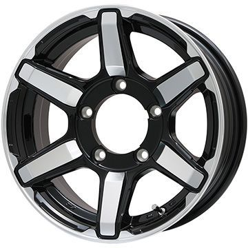 タイヤはフジ 送料無料 ジムニー 4X4エンジニア アーバンスポーツ S-VI(グロスブラックポリッシュ) 5.5J 5.50-16 YOKOHAMA ジオランダー M/T G003 185/85R16 16インチ サマータイヤ ホイール4本セット