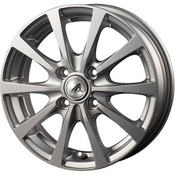 タイヤはフジ 送料無料 INTER MILANO インターミラノ AZ-SPORTS EX-10 4.5J 4.50-14 FALKEN ジークス ZE912 155/55R14 14インチ サマータイヤ ホイール4本セット
