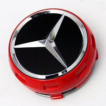 AMG メルセデスベンツ 純正ホイールキャップ ハイタイプ 4個セット クローム/レッド