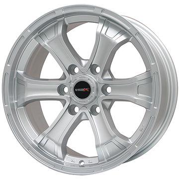 【送料無料】 265/65R17 17インチ BIGWAY B-MUD K(シルバー) トヨタ車専用 7.5J 7.50-17 GRIP MAX グリップマックスA/T OWL/OBL(限定) サマータイヤ ホイール4本セット