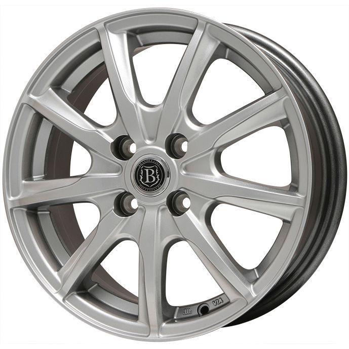 タイヤはフジ 送料無料 BRANDLE-LINE ブランドルライン ボレアノ9 メタリックグレー 4.5J 4.50-14 PIRELLI チンチュラートP1ヴェルデ 155/65R14 14インチ サマータイヤ ホイール4本セット