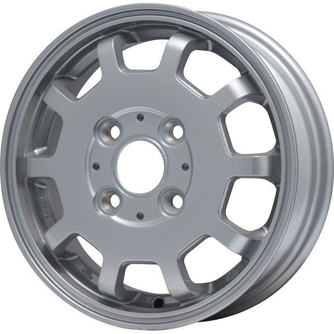 タイヤはフジ 送料無料 BRANDLE-LINE ブランドルライン ストレンジャーKST-10 (シルバー) 3.5J 3.50-12 KENDA コメンド KR33 6PR 145/80R12 145R12 12インチ サマータイヤ ホイール4本セット