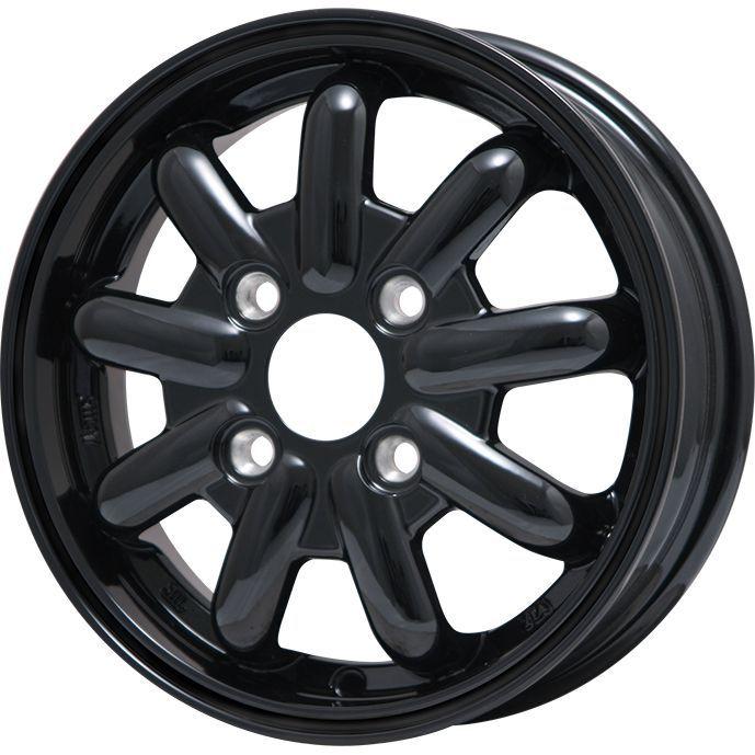タイヤはフジ 送料無料 BRANDLE-LINE ブランドルライン ストレンジャーKST-9 (ブラック) 4.5J 4.50-15 INTERSTATE インターステート ツーリングGT(限定) 165/60R15 15インチ サマータイヤ ホイール4本セット