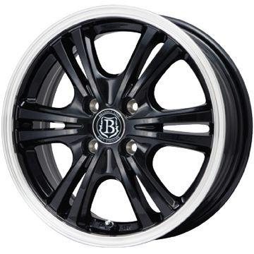 タイヤはフジ 送料無料 N-BOX専用 BRANDLE-LINE ブラックシリーズ マルサラ 4J 4.00-13 145/80R13 13インチ MICHELIN エナジー セイバー サマータイヤ ホイール4本セット