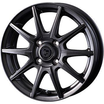 タイヤはフジ 送料無料 INTER MILANO インターミラノ クレール GS10J 4J 4.00-13 YOKOHAMA ブルーアース AE-01 165/70R13 13インチ サマータイヤ ホイール4本セット