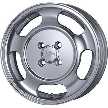 タイヤはフジ 送料無料 ENKEI エンケイ allシリーズ オールセブンティーン 5J 5.00-15 INTERSTATE インターステート ECOツアープラス(限定) 165/55R15 15インチ サマータイヤ ホイール4本セット