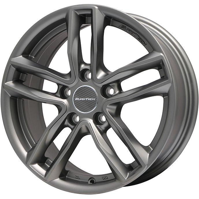 タイヤはフジ 送料無料 ボルボ(V60クロスカントリー) EUROTECH ユーロテック ガヤ5(マットチタニウム) 6.5J 6.50-16 DUNLOP エナセーブ EC204 215/65R16 16インチ サマータイヤ ホイール4本セット 輸入車