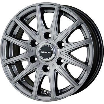タイヤはフジ 送料無料 NV350キャラバン HOT STUFF ホットスタッフ バイソン BN-01 6J 6.00-15 DUNLOP エナセーブ VAN01 107/105L 195/80R15 15インチ サマータイヤ ホイール4本セット