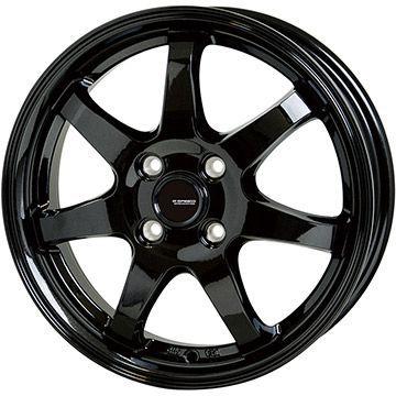 タイヤはフジ 送料無料 HOT STUFF ホットスタッフ ジースピード G-03 4.5J 4.50-14 INTERSTATE インターステート ツーリングGT(限定) 165/65R14 14インチ サマータイヤ ホイール4本セット