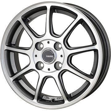 タイヤはフジ 送料無料 HOT STUFF ホットスタッフ ジースピード P-01 4.5J 4.50-14 INTERSTATE インターステート ECOツアープラス(限定) 155/65R14 14インチ サマータイヤ ホイール4本セット