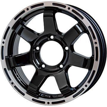 タイヤはフジ 送料無料 ジムニー HOT STUFF ホットスタッフ マッドクロス MC-76 ブラックリムポリッシュ 5.5J 5.50-16 DUNLOP グラントレック PT3 175/80R16 16インチ サマータイヤ ホイール4本セット