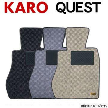 (一部離島除く) KARO カロ フロアマット クエスト スバル トレジア(2010~ NSP120X):フジ スペシャルセレクション