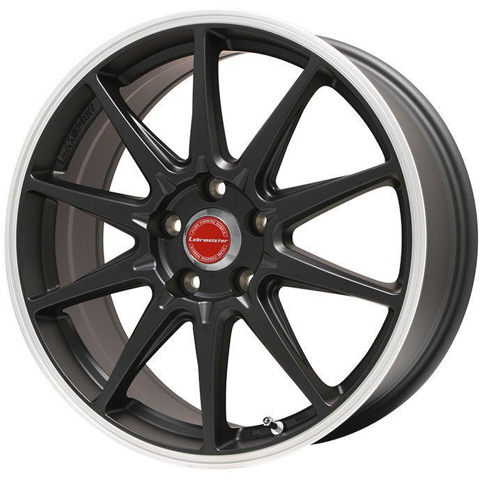 タイヤはフジ 送料無料 LEHRMEISTER レアマイスター LMスポーツRS10(マットブラックリムポリッシュ) 7.5J 7.50-18 INTERSTATE インターステート ECOツアープラス(限定) 215/45R18 18インチ サマータイヤ ホイール4本セット