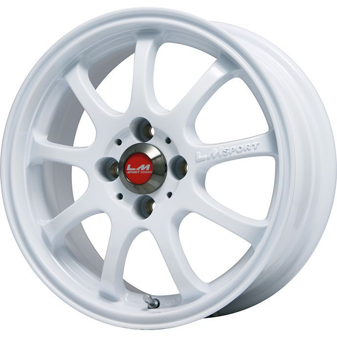 タイヤはフジ 送料無料 LEHRMEISTER レアマイスター LMスポーツファイナル(ホワイト) 5J 5.00-16 NITTO NT830 165/45R16 16インチ サマータイヤ ホイール4本セット