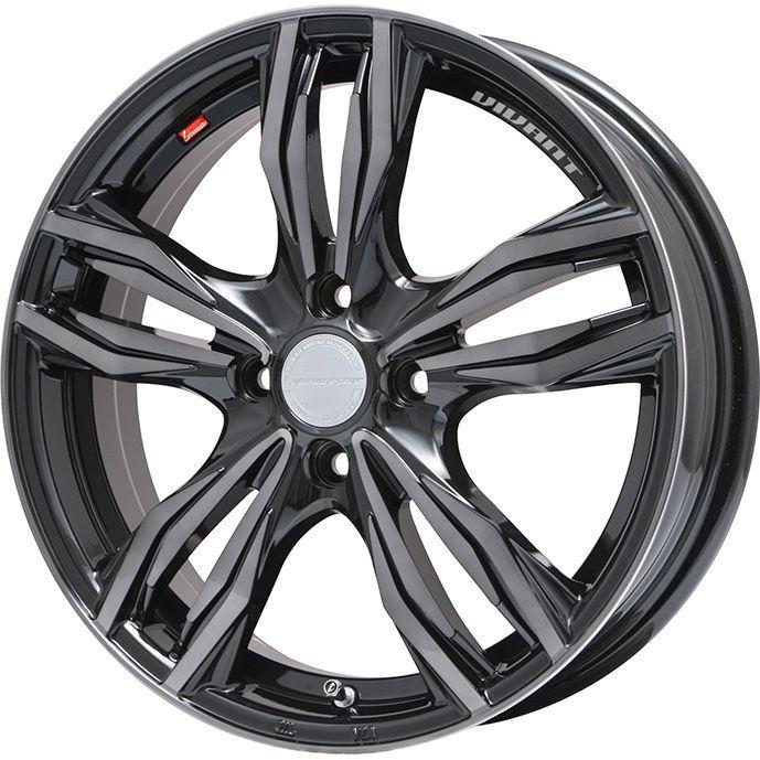 タイヤはフジ 送料無料 LEHRMEISTER レアマイスター ヴィヴァン(ブラッククリア) 5J 5.00-16 YOKOHAMA ブルーアース A(AE50) 165/50R16 16インチ サマータイヤ ホイール4本セット