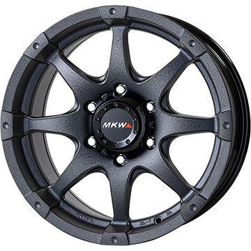タイヤはフジ 送料無料 ラングラー MKW MK-76 8J 8.00-18 YOKOHAMA ジオランダー H/T G056 285/60R18 18インチ サマータイヤ ホイール4本セット 輸入車