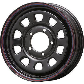 タイヤはフジ 送料無料 ジムニー MLJ デイトナSS 6J 6.00-16 YOKOHAMA ジオランダー M/T G003 185/85R16 16インチ サマータイヤ ホイール4本セット