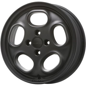 タイヤはフジ 送料無料 MLJ ハイペリオン ダイアル 4.5J 4.50-14 INTERSTATE インターステート ツーリングGT(限定) 165/65R14 14インチ サマータイヤ ホイール4本セット