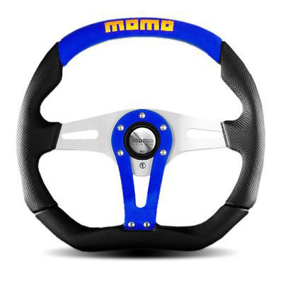 【並行輸入品】送料無料(一部離島除く) MOMO モモ ハンドル ステアリング TREK BLUE トレック ブルー 35Φ