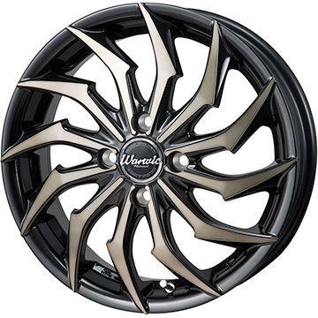 タイヤはフジ 送料無料 MONZA モンツァ ワーウィック ハーベル 4.5J 4.50-15 YOKOHAMA ブルーアース RV-02CK 165/60R15 15インチ サマータイヤ ホイール4本セット