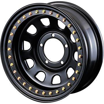 タイヤはフジ 送料無料 ジムニー MOTOR FARM リアルビードロック ロックマスターRB 6J 6.00-16 YOKOHAMA ジオランダー M/T G003 185/85R16 16インチ サマータイヤ ホイール4本セット